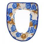 Набор чехлов для унитаза на липучках Цветы сиденье, крышка: цвета микс